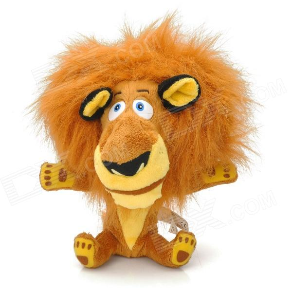 Cute Lion Shaped PP Cotton + Plush Toy - Brown + Yellow + Black creative simulation plush soft fox naruto toy polyethylene