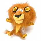 Cute Lion Shaped PP Cotton + Plush Toy - Brown + Yellow + Black