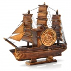 Segelschiff Stil Rotation Wooden Musical Box - Brown