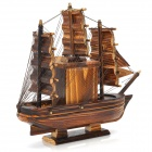 Sailing Ship Style Rotation Wooden Musical Box - Brown