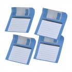 ZhiJiang 3.5'' Floppy Disk Pattern Sticky Notes - Blue + White (50-Pages)
