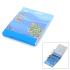 ZhiJiang HYBQ Marine Life Pattern 4-Layer Note Pad Memo Block - Blue (80-Pages)