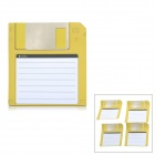 ZhiJiang 3.5'' Floppy Disk Pattern Sticky Notes - Yellow + White (50-Pages)