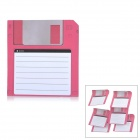 ZhiJiang 3.5'' Floppy Disk Pattern Sticky Notes - Red + White (50-Pages)