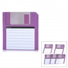 ZhiJiang 3.5'' Floppy Disk Pattern Sticky Notes - Purple + White (50-Pages)