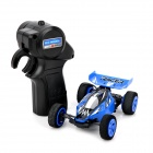 Wireless 2-Channel High-Speed ​​Rechargeable R / C Rennwagen w / Remote Controller - Blue