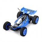Wireless 2-Channel High-Speed Rechargeable R/C Race Car w/ Remote Controller - Blue