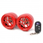 Flower Style Motorcycle MP3 Audio Alarm System w/ FM Radio - Red