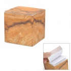 ZhiJiang MWZZ Creative Wood Brick Design Sticky Note Pad Memo Block - Yellow + White (750-Pages)