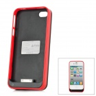 "iFans External ""1800mAh"" Battery ABS + Aluminum Back Case for iPhone 4 / 4S - Red"