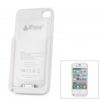 "iFans External ""1800mAh"" Battery PU + ABS Back Case for iPhone 4 / 4S - Red"