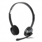Aoni CD-623MV Stylish Headphone Headset w/ Microphone for PC / Laptop - Black