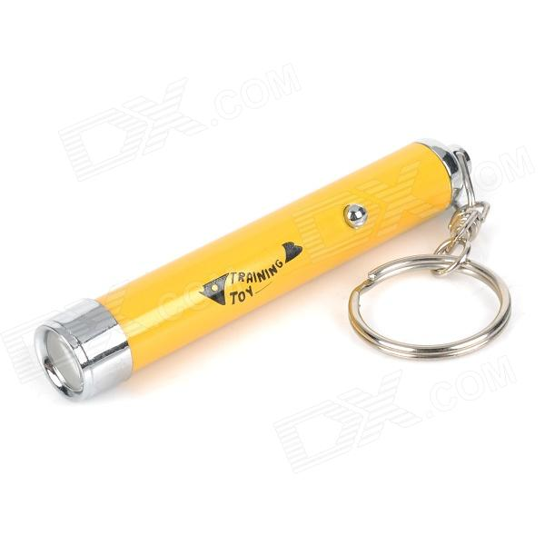 WG111615 LED Training Pointer for Pet Cat Dog - Yellow (Yellow Fish / 3 x LR927)