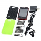 "CUBOT C7 Android 2.3 GSM Bar Phone w/ 3.5"" Capacitive Screen, Quad-Band and Wi-Fi - Deep Red"