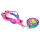 Colorful Nylon Harness Chest Leash for Pet Dog Cat