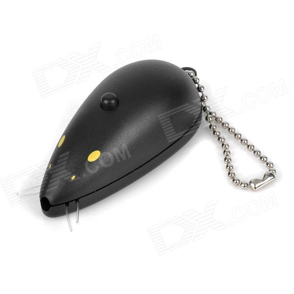 WG111608 Plastic Laser Beam Mouse Toy for Pets Cats - Black (3 x AG13)