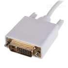 1080p Thunderbolt V1.0 Male to DVI-D(24+1) Male Monitor Adapter Cable - White (185cm)