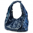 VEMO 1105029119 Embroidered Pattern PU Shoulder Bag / Handbag - Blue