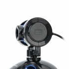 10moons D804RC 2.0MP USB 2.0 Web Camera Webcam w/ Built-in Microphone - Black + Blue (145cm-Cable)