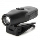 Lichao LC-5017 1-LED 7000K 1-Mode White Light Hat Cap Clip-on Lamp - Black (2 x CR2032)