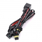 H11 35W HID Xenon Lamp Relay Wiring Cable Set Harness for Car - Black + Red (140cm / 12V)