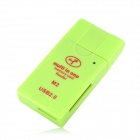 RB-539 USB 2.0 SD / MMC / RS-MMC / Mini SD / T-Flash / MS / M2 Card Reader - Green (Max 32GB)