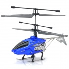 8002G Rechargeable 2.4GHz 4-CH R/C Alloy Helicopter w/ Gyroscope - Blue + Silver