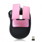 Bokai 2800 1000dpi Optical Wireless Mouse - Pink + Black (2 x AAA)