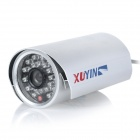 TS-8020S-YS Surveillance Security Fixed Focus Camera w/ 24-LED IR Night Vision - Silver (DC 12V)
