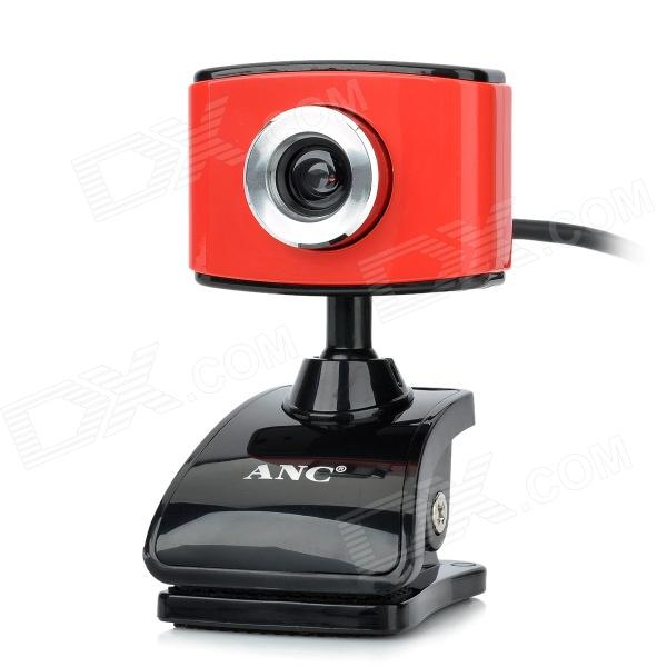 AONI ANC C288 Compact PC Camera USB Webcam w/ Microphone - Red