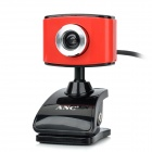 Aoni ANC C288 Compact PC Camera USB Webcam w / Mikrofon - Red