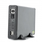 "Blueendless BS-U35PD USB 2.0 Hard Disk Drive Enclosure External Case for 3.5"" IDE HDD - Silver Grey"