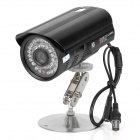 1/4' 1030 CCD XP01B Surveillance Security Camera w/ 35-LED IR Night Vision - Black (3.6mm / DC 12V)
