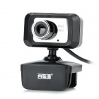 AONI BNT B2 Compact PC Camera USB Webcam w/ Microphone - Black