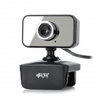 AONI M1 Compact PC Camera USB Webcam w/ Microphone - Black