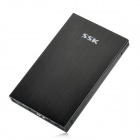"SSK HEG300 USB 3.0 HDD Hard Disk Drive Enclosure External Case for 2.5"" SATA HDD - Black"