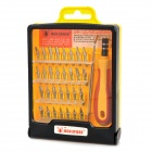 JK-6032-A Multifunction Screwdrivers Repair Tool Kit - Red + Yellow