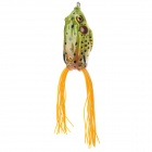 Trulinoya Ray Frog Style Soft Plastic Fishing Lure Bait - Green + Orange
