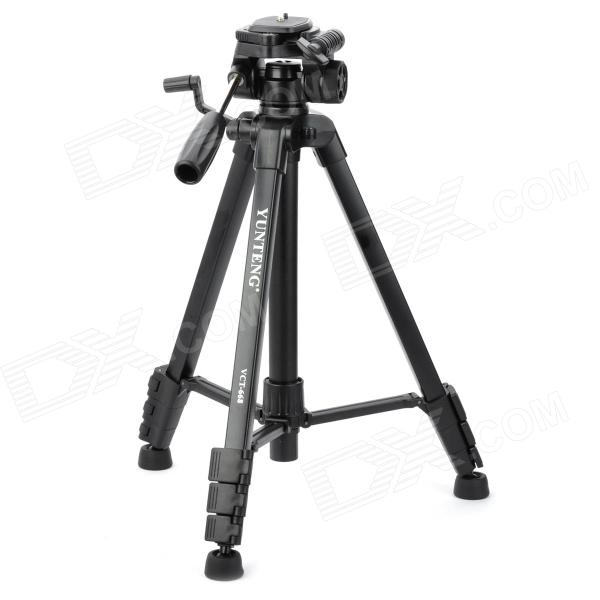 Yunteng VCT-668 Portable Detachable Tripod w/ Case for SLR Camera - Black yunteng vct 690 new photographic equipment aluminium flexible tripod for for nikon canon slr digital camera support with bag