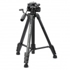Yunteng VCT-668 Portable Detachable Tripod w/ Case for SLR Camera - Black