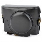 Protective PU Leather Camera Case for Sony RX-100 - Black