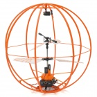 SH 6041 Rechargeable 3.5-CH IR Remote Controller R/C Fly Ball with Gyro - Orange