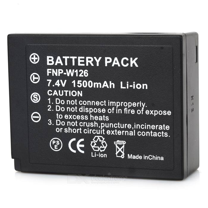 NP-W126 Replacement Battery for FujiFilm FinePix HS30EXR / HS33EXR / X-Pro1 - Black hot sale battery np 95 np 95 rechargeable camera battery for fujifilm finepix f30 f31fd real 3d w1 x s1 x100 x100s