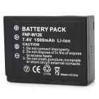 NP-W126 Replacement Battery for FujiFilm FinePix HS30EXR / HS33EXR / X-Pro1 - Black