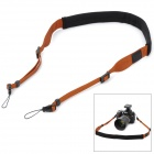 CAM-in CAM1875 Universal Fashion Neck Sling Strap for DSLR Camera - Brown + Black