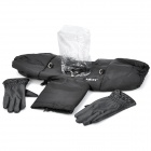 Universal Water Resistant Warm Keeper DSLR Protective Rain Cover with Gloves - Black