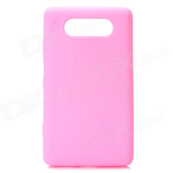 Protective Silicone Back Case for Nokia Lumia 820 - Pink