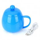 BWB USB Powered Stainless Steel Vacuum Flask Bottle - Blue