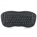 A330a 2.4GHz Wireless 81-Key Keyboard w/ Trackball Mouse for PC - Black