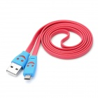 USB Male to Micro USB Male Charging shining Data Flat Cable for Nokia / HTC + More - Red (105cm)